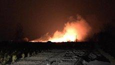 Пожар на окраине Киева (на Осокорках)
