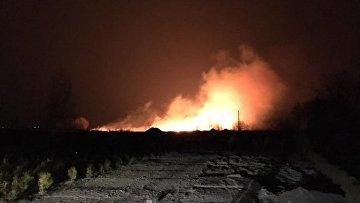 На Осокорках в Киеве произошел масштабный пожар