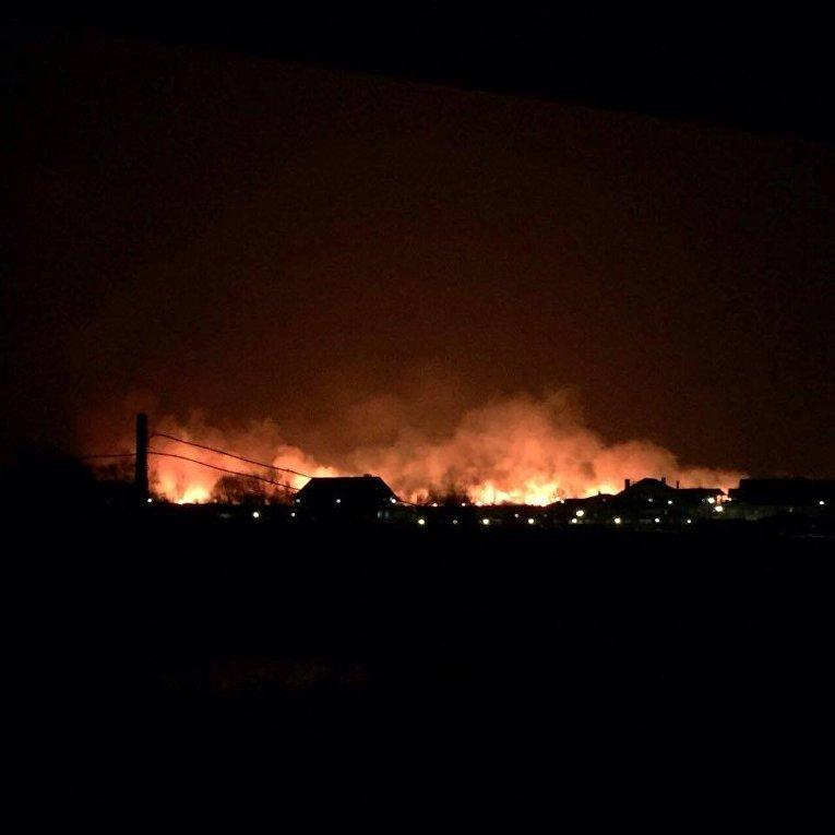 Масштабный пожар на Осокорках (ул. Садовая)