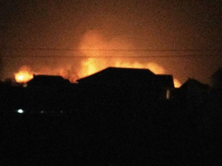 Масштабный пожар на Осокорках в Киеве