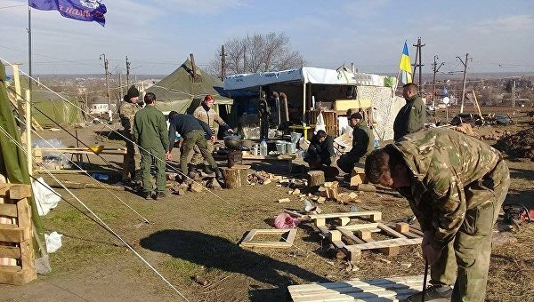 Участники блокады Донбасса
