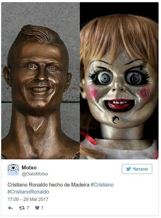 Новый памятник Роналду высмеяли в сети
