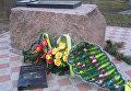 Разрушенный мемориал памяти погибшим на Майдане