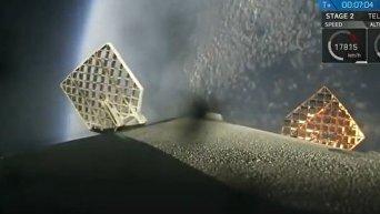 Повторный запуск первой ступени Falcon 9. Видео