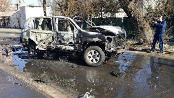 Подрыв автомобиля в центре Мариуполя