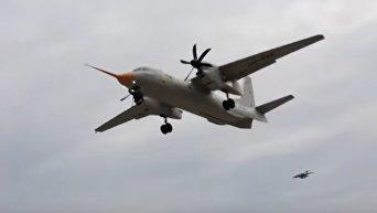 Первый полет самолета Ан-132D, построенного без комплектующих РФ. Видео