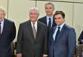 Глава МИД Великобритании Борис Джонсон, Госсекретарь США Рекс Тиллерсон, Генсек НАТО Йенс Столтенберг и глава МИД Украины Павел Климкин