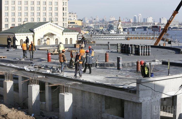 Реконструкция Почтовой площади в Киеве