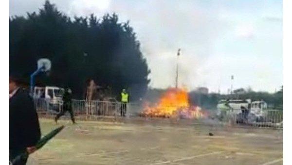 Взрыв на карнавале во Франции