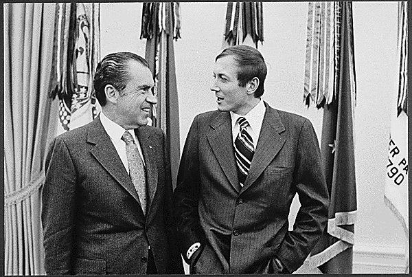 37-й президент США Ричард Никсон и Евгений Евтушенко