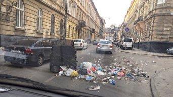 Ночной мусорный пикет во Львове