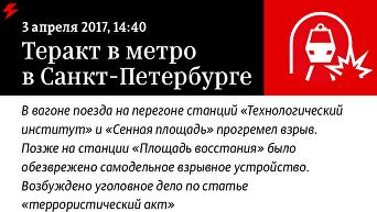 Теракт в метро Санкт-Петербурга. Инфографика