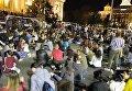 Антиправительственная акция протеста в центре Белграда