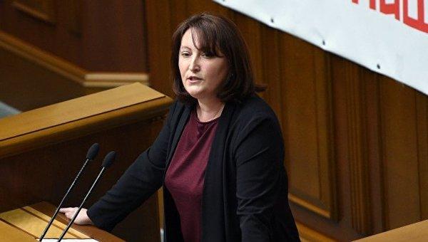 Наталия Корчак в парламенте