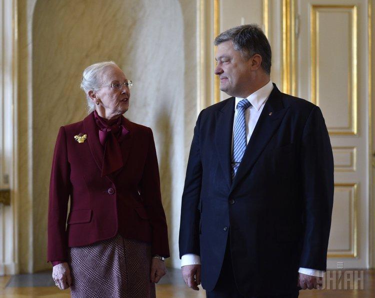 Петр Порошенко и королева Дании Маргрете II