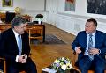 Президент Петр Порошенко с премьер-министром Дании Ларсом Люкке Расмуссеном