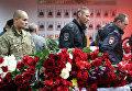 Прощание с погибшими в Астрахани полицейскими