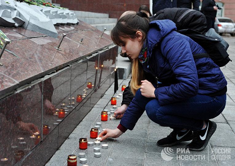 Акция Мы против терроризма во Владивостоке