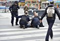 Теракт в центре Стокгольма. Полиция оказывает помощь пострадавшим