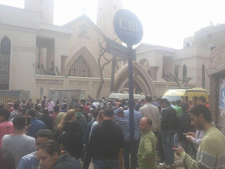 Взрыв у церкви в египетском Танте