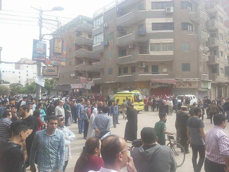 В районе взрыва у церкви в Танте