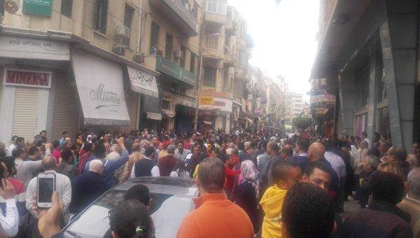 На месте теракта в Александрии