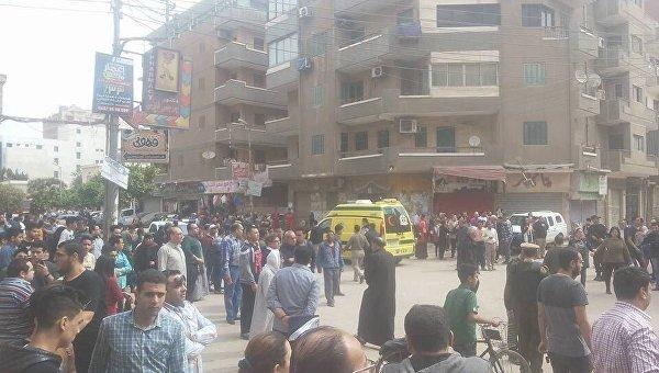 На месте теракта в египетском городе Танта