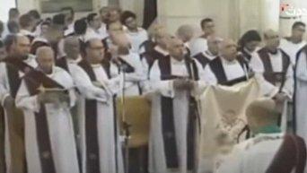 Видео за мгновение до взрыва в церкви в Египте