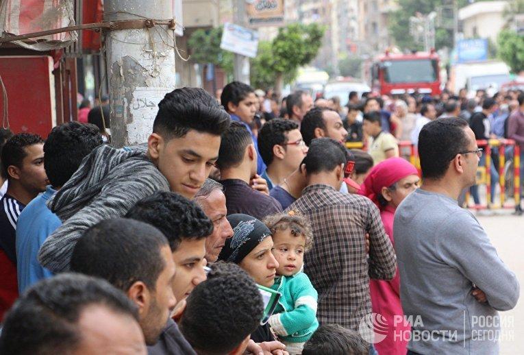 Взрыв прогремел в церкви Святого Георгия в египетском городе Танта