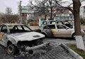 В Черноморске сгорели четыре автомобиля