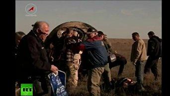 Возвращение участников международного экипажа МКС на Землю