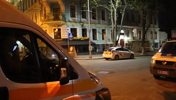 На месте взрыва на Владимирской в Киеве в ночь на 11 апреля 2017