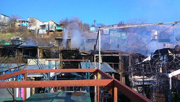 ВОдессе сгорели 15 частных домов
