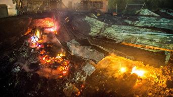 Во Франции в результате беспорядков в лагере мигрантов вспыхнул пожар
