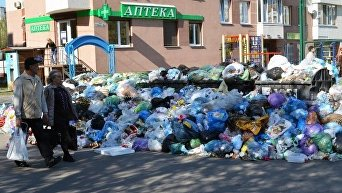 Мусор на улицах Львова