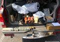 Иномарка с оружейным арсеналом в Харьковской области