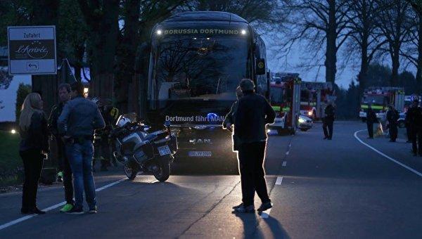 Взрыв в Дортмунде. Автобус ФК Боруссия
