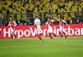 Игроки ФК Монако празднуют победу над Боруссией (Дортмунд)