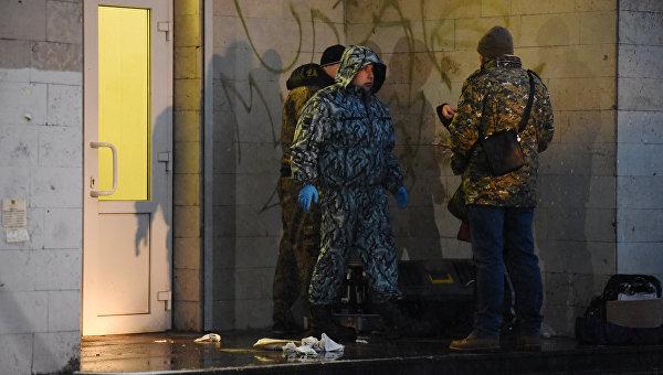 Взрыв на Васильевском острове в Петербурге