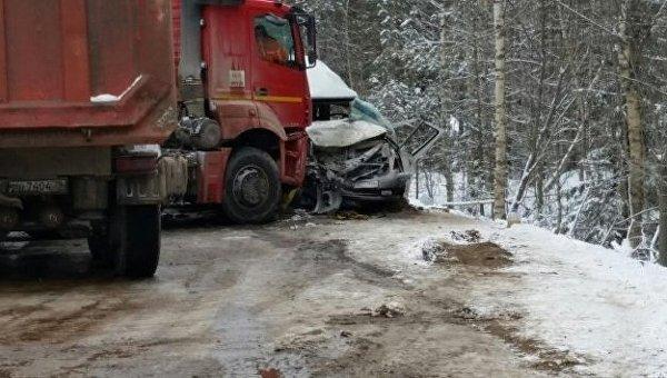 ДТП в Ленобласти, в котором пострадали украинцы