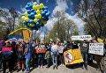 Митинг за цирк без животных в Международный День цирка в Киеве