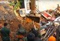 Обрушение мусорной свалки на Шри-Ланке
