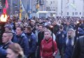 Факельное шествие националистов в Запорожье. Видео