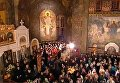 Пасхальное богослужение в Свято-Успенской Киево-Печерской лавре. Видео