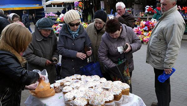Празднование Пасхи в Донецке