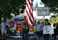 Протесты против Дональда Трампа в Калифорнии