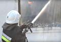 Тушение пожара в школе Ровенской области
