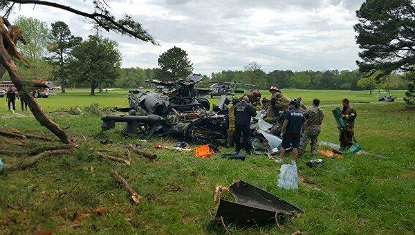 ВСША потерпел крушение военный вертолет
