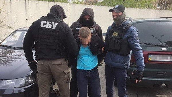 Задержание следователя полиции Киева