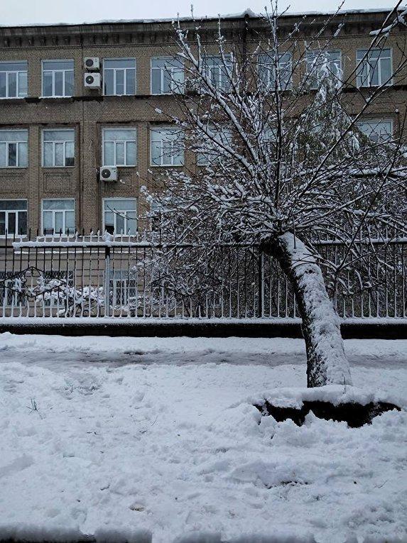 Днепр в снежном плену